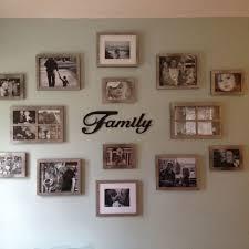 dramatic photo wall display