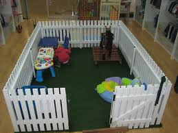 Love This Playpen Fake Grass And White Picket Fence Kids Play Area Toddler Playpen Child Fence