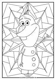 Olaf Frozen Kleurplaat Gratis Downloaden Kleurplaat Frozen