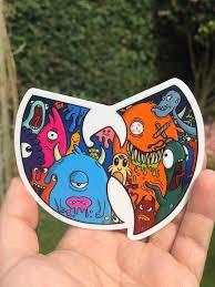 Wu Tang Sticker Monsters Premium Vinyl Decal Etsy