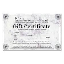 gift certificates for small hands