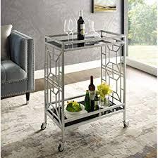 inspired home black bar cart