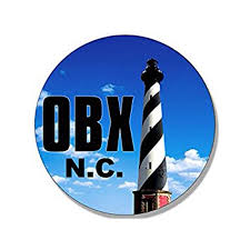 Round Obx Lighthouse Sticker Decal North Carolina Nc Beach Logo Outer Banks 4 X 4 Inch Walmart Com Walmart Com