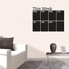 Amazon Com Funif Chalkboard Wall Sticker Diy Blackboard Weekly Planner Calendar Wall Decal Decorative Wallpaper For Office Home 17 7 X 22 8 Home Kitchen
