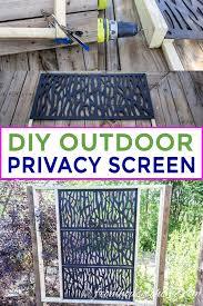 decorative diy outdoor privacy screen