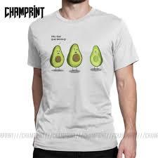 تي شيرت مطبوع عليه رسوم متحركة من الأفوكادو للرجال قمصان مضحكة من