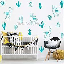 Dalab Woodland Tribal Alpacas And Cacti Wall Decals Alpaca Cactus Vinyl Wall Stickers For Kids Room Llama Nursery Decor Wall Art B32 Tools Home Improvement Color Gray Size 80 Decals Rpmsanremo It