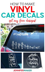 Vinyl Car Decals Quick And Easy To Make Your Own Jennifer Maker