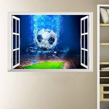 3d Wall Stickers Hot Sale Soccer Ball Football Vinyl Wall Decal Stickers For Kids Sport Boy Rooms Bedroom Art Wall Decor Wish