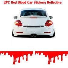 2pcs Red Blood Car Stickers Reflective Car Decals Light Bumper Body Sticker Decal Car Exterior Accessories Car Stickers Aliexpress