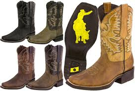 mens rodeo cowboy boots genuine leather