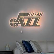 Nba Utah Jazz Wall Decor Cutout Led Lamp Kutemade Inc