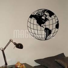 Earth Globe Beach Ball Map Wall Decals Canada Wall Stickers
