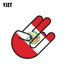 Yjzt 9 7cm 14 7cm Funny Car Styling Peru Shocker Flag Decal Car Sticker 6 1004 Car Stickers Aliexpress
