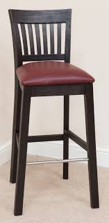 bar stool 339 acacia wood red leather