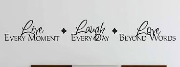 Amazon Com Live Laugh Love Wall Decals Stickers Black 24 Home Kitchen