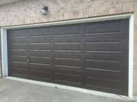 garage door 10x7 new used goods
