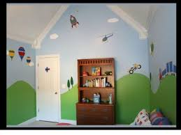 Amazon Com Trains Airplanes Cars Room Wall Stencils For Boys Room Transportation Theme Wall Mural Home Kitc Toddler Room Decor Red Kids Rooms Cars Room