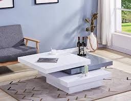 goldfan modern coffee table high gloss