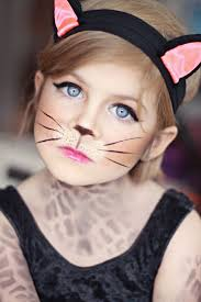picture of cat halloween makeup for a