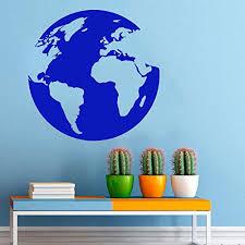 Amazon Com Earth Wall Nature Globe Map Planet Life Seas Oceans Land Cosmos Wall Decor Wall Decal Window Sticker Vinyl Sticker Handmade T423 Handmade