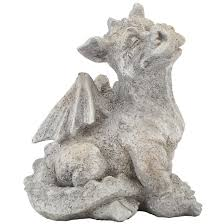 sitting dragon garden statue at fleet farm