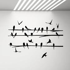 Birds On Branch Wall Decal Flock Of Birds Vinyl Stickers Animals Interior Design Art Murals Housewares Bedroom Wall Decor Love Wall Stickers Make Your Own Wall Decals From Onlinegame 12 66 Dhgate Com