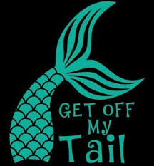 Get Off My Tail Mermaid Decal For Car Truck Mirror 20 Color Options Ebay