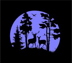 Hunting Wildlife Deer Scene Custom Vinyl Car Truck Window Decal Sticke Customvinyldecals4u