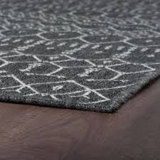 tayse rugs serenity black 4 ft 11 in
