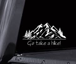 Take A Hike Decal Hiking Decal Hiking Car Decal Mountain Etsy In 2020 Car Decals Etsy Monogram Decal