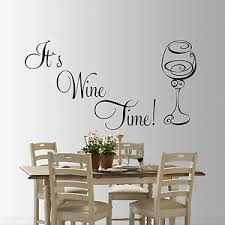 It S Wine Time Wall Sticker Art Decal Sticker Wine Time Quote Living Room Sml Ebay