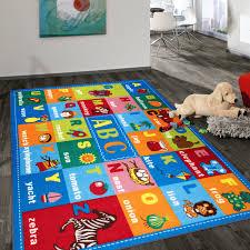 Shop Kids Educational Learning Alphabet Symbols Non Slip Area Rug On Sale Overstock 31640573 5 X 7