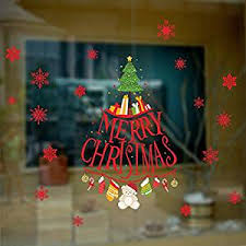 Buy Bibitime Sayings Merry Christmas Tree Wall Decal Hanging Gift Bear Socks Gloves Crutch Red Snowflake Window Decor Stickers Shop Showcase Glass Door Decals In Cheap Price On Alibaba Com