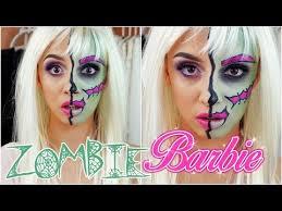 halloween zombie barbie makeup