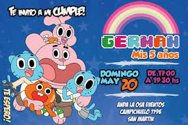 Tarjetas Cumpleanos El Asombroso Mundo De Gumball 60 00 En