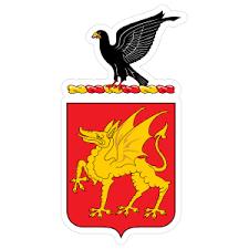Army 1st Cavalry Regiment Distinctive Unit Insignia Sticker