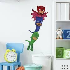 Pj Masks Superheroes 6 Wall Decals Mural Catboy Owlet Gecko Room Decor Stickers 34878575568 Ebay