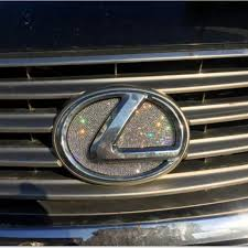 Bling Lexus Logo Front Or Rear Grille Emblem Made W Rhinestone Crysta Carsoda
