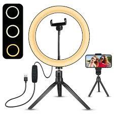 Mua Đèn LED Dạng Vòng 26 Cm Video Có Thể Điều Chỉnh Độ Sáng Phòng Thu Trực  Tiếp Chiếu Sáng Đèn Tròn Youtuber Facebook Nhiếp Ảnh Đèn Led Vòng Chụp Ảnh  Selfie