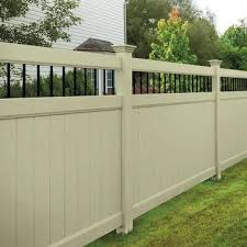 Activeyards Persimmon Privacy Fence In Sand Vinyl Fence Fence Prices Outdoor Decor