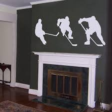 Hockey Players Wall Decal Sticker Graphic