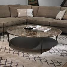 soho round marble coffee table glass