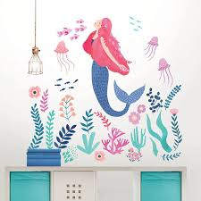 Let S Be Mermaids Wall Decal Mermaid Wall Art Mermaid Decal Mermaid Wall Decals