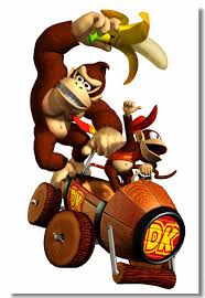 Custom Canvas Wall Decor Super Mario Kart Poster Donkey Kong Wall Stickers Mural Office Decals Cafe Bar Wall Papers Arts 0498 Wall Stickers Aliexpress