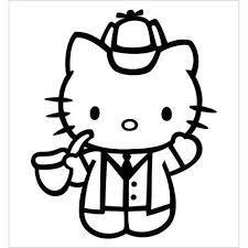 White Color Sherlock Homles Hello Kitty Buy Online In Guernsey At Desertcart