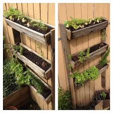 Here S A Herb Garden I Made Out Of Old Fence Palings Very Easy To Make Measurements Up To You Vertical Herb Garden Old Fences Backyard Fences