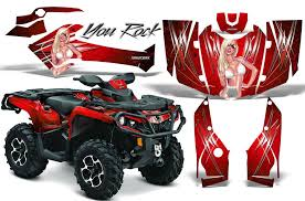 Creatorx Can Am Renegade Graphics Kit Decals Stickers Tribalx White Yellow Motorcycle Atv Automotive Accessories Motorcycle Atv