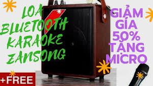 Loa Karaoke Bluetooth Zansong A061 Mini |Bh 6 Tháng