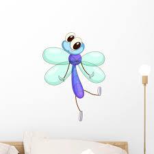 Cartoon Dragonfly Wall Decal Wallmonkeys Com
